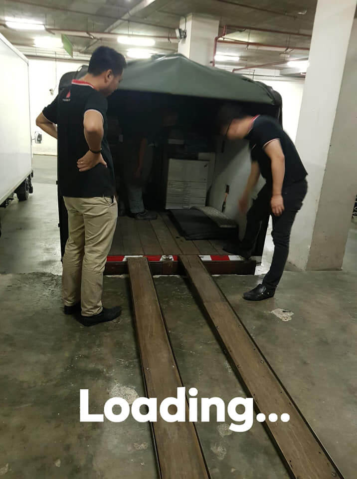 Loading Photocopier During Installation