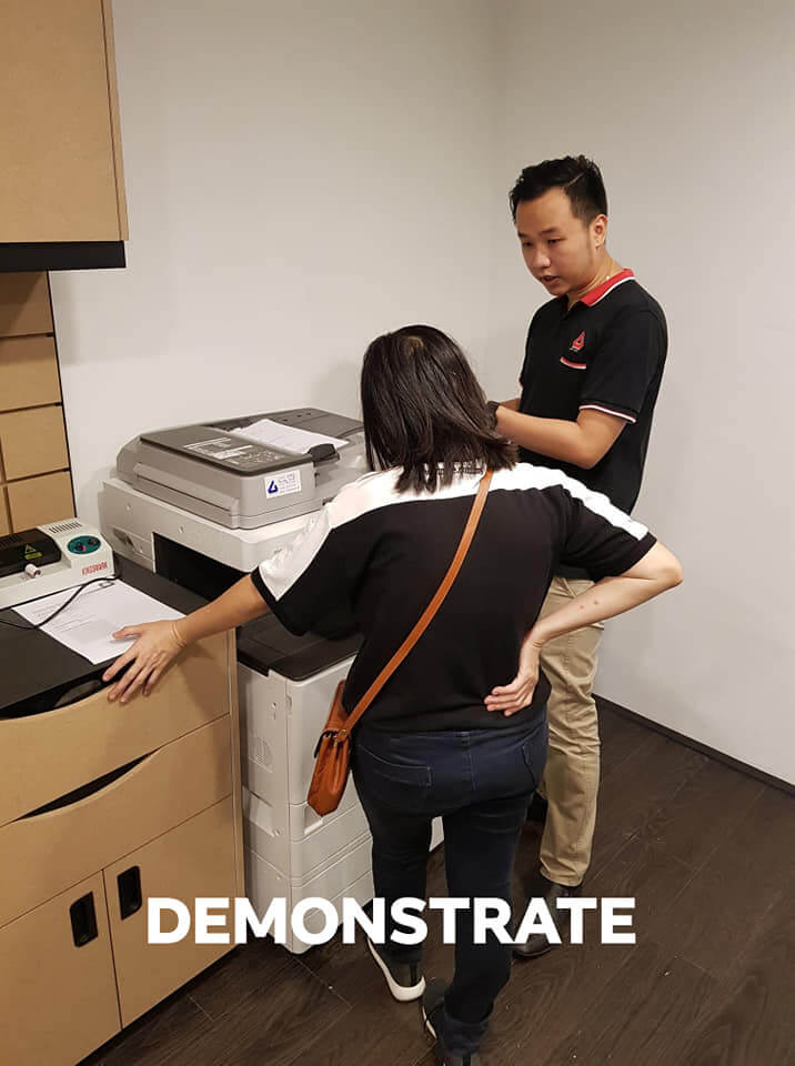 Photocopier Demonstration During Installation