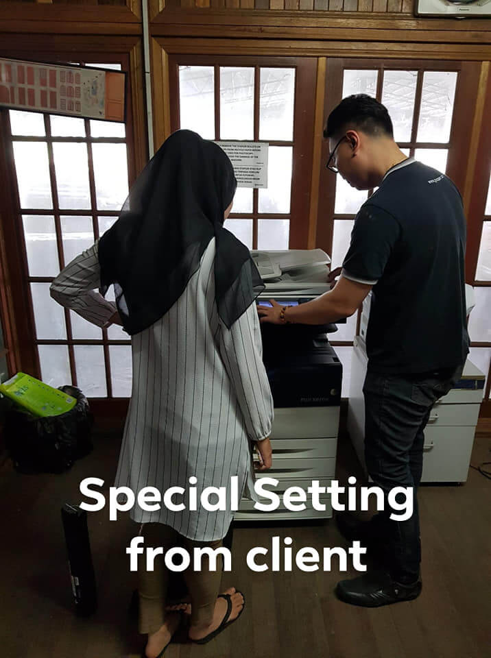 Photocopier Special Setting Setup During Installation