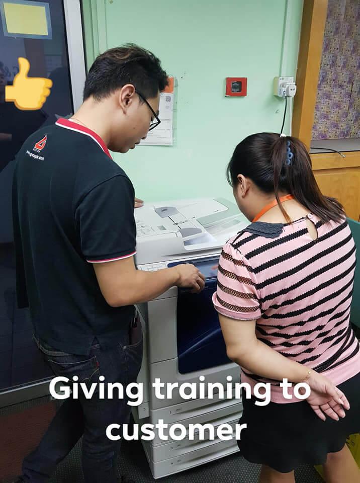Training During Photocopier Installation