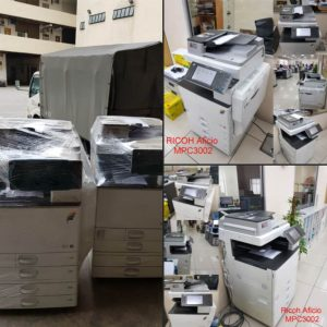 2 units of Ricoh Colour Multi-function devices delivered to customer located Shah Alam