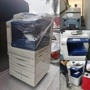Installing Fujixerox DocuCentre IV 3065 monochrome copier for a logistic company in Klang