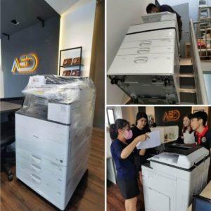 RICOH MPC3503 copier machine deliverd to an Interior designer company in Shah Alam