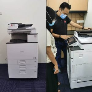 Supplying RICOH MPC 3003 to a client in Klang