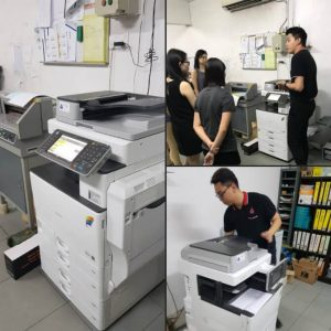 Supplying RICOH MPC3502 (COPY PRINTER SCANNER) to an office located in Klang