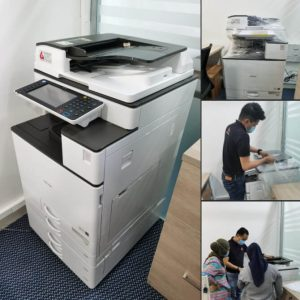 Supplying Ricoh MPC 3503 colour photocopier for an investment company in Ampang