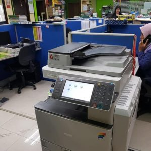 Colour Photocopier delivered & installed for an office in kepong