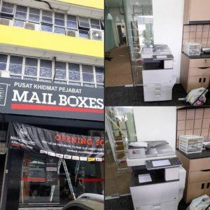 Delivered Ricoh Colour Copier to another mailbox franchises which located at Bandar Puchong