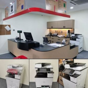 Done Installation of a photocopier for Mail Boxes Etc - MBE in Puchong Jaya