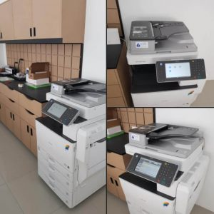 Installation of Ricoh MPC3002 photostat machine for another branch of MAILBOX located at Puchong