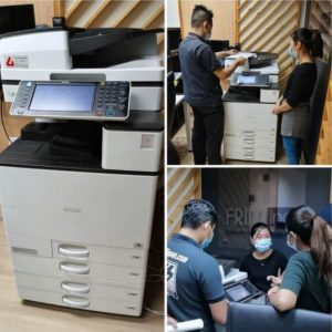 RICOH MPC5503 delivered & installed for a management company in kepong