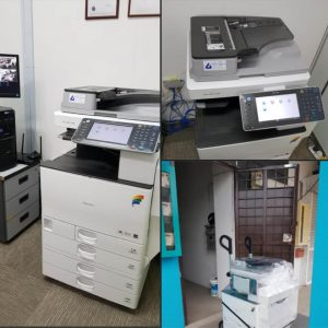 Ricoh MPC3002 Colour machine had been delivered customer office located at Puchong