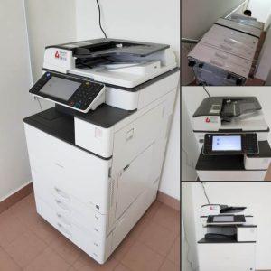 A client in Sungai Buloh renting a RICOH aficio MPC 3003 copier