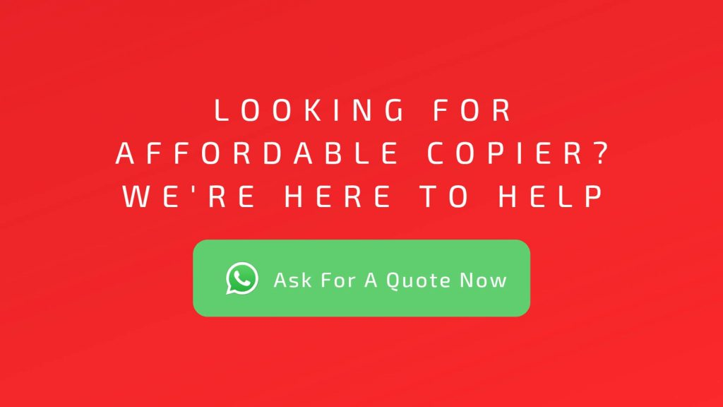 Looking for affordable copier. Contact The Copier Guy