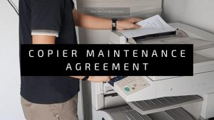 Copier Maintenance Contract as Service agreement for Photocopier