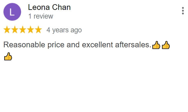 Great review from a client who rented a refurbished copier from The Copier Guy and love the reasonable price and aftersales service