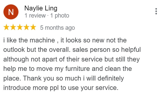 Great review from a client who rented a refurbished copier from The Copier Guy
