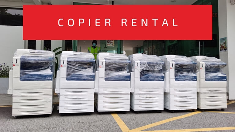 Line of Ricoh Copier Ready For Rental
